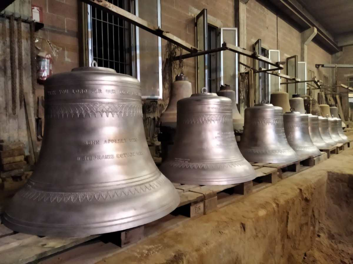 photo of polished bells
