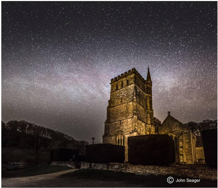 Photo of St Mary's with dramatic night sky