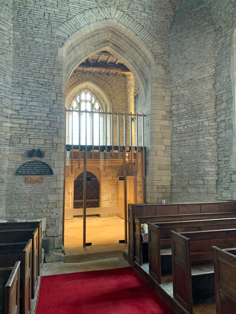 The new ringing floor above the beautifully refurbished vestry
